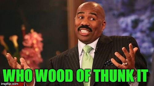 WHO WOOD OF THUNK IT | made w/ Imgflip meme maker