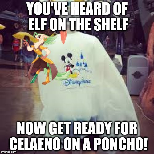 Celaeno on a Poncho | YOU'VE HEARD OF ELF ON THE SHELF NOW GET READY FOR CELAENO ON A PONCHO! | image tagged in my little pony,elf on the shelf,captain celaeno,poncho,pirate,my little pony friendship is magic | made w/ Imgflip meme maker