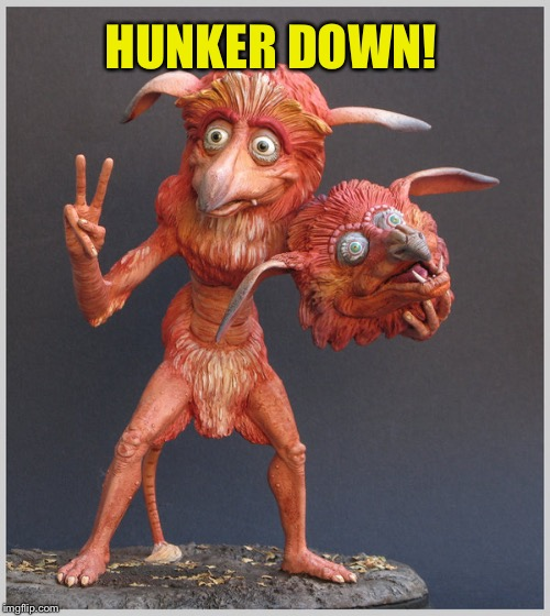 HUNKER DOWN! | made w/ Imgflip meme maker