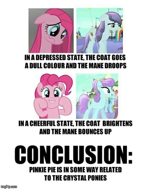 This could be true! | image tagged in memes,my little pony,pinkie pie | made w/ Imgflip meme maker
