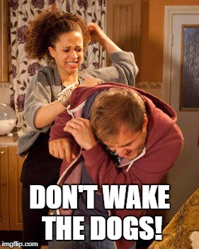 DON'T WAKE THE DOGS! | made w/ Imgflip meme maker