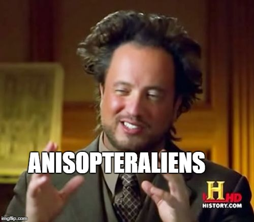 Ancient Aliens Meme | ANISOPTERALIENS | image tagged in memes,ancient aliens | made w/ Imgflip meme maker