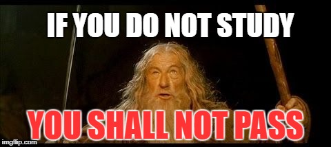 Every Teacher... |  IF YOU DO NOT STUDY; YOU SHALL NOT PASS | image tagged in you shall not pass,meme,memes,dank memes,so true memes,so true | made w/ Imgflip meme maker