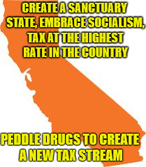 California... You Suck! | CREATE A SANCTUARY STATE, EMBRACE SOCIALISM, TAX AT THE HIGHEST RATE IN THE COUNTRY PEDDLE DRUGS TO CREATE A NEW TAX STREAM | image tagged in california,legalization,sanctuary cities,taxes | made w/ Imgflip meme maker