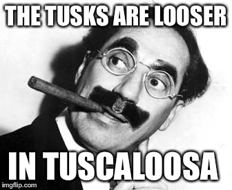 THE TUSKS ARE LOOSER IN TUSCALOOSA | made w/ Imgflip meme maker