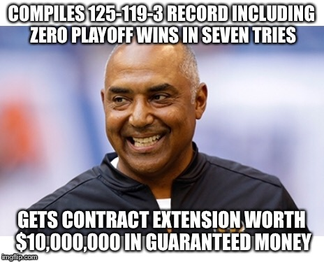 Marv's s4it eating grin | COMPILES 125-119-3 RECORD INCLUDING ZERO PLAYOFF WINS IN SEVEN TRIES GETS CONTRACT EXTENSION WORTH $10,000,000 IN GUARANTEED MONEY | image tagged in marvin,bengals,cincinnati,nfl,nfl memes | made w/ Imgflip meme maker