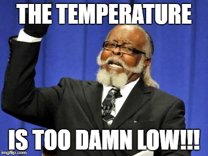 Too Damn High | THE TEMPERATURE IS TOO DAMN LOW!!! | image tagged in memes,temperature,too damn low | made w/ Imgflip meme maker