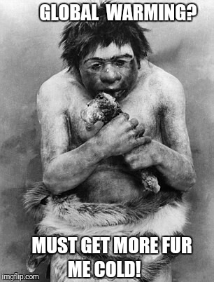 Any Caveman would tell you this. | GLOBAL  WARMING? MUST GET MORE FUR ME COLD! | image tagged in global warming,caveman,cold weather | made w/ Imgflip meme maker