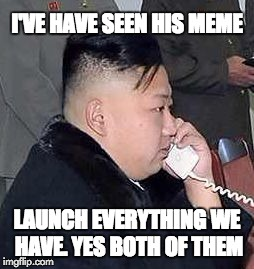 kim | I'VE HAVE SEEN HIS MEME LAUNCH EVERYTHING WE HAVE. YES BOTH OF THEM | image tagged in kim | made w/ Imgflip meme maker