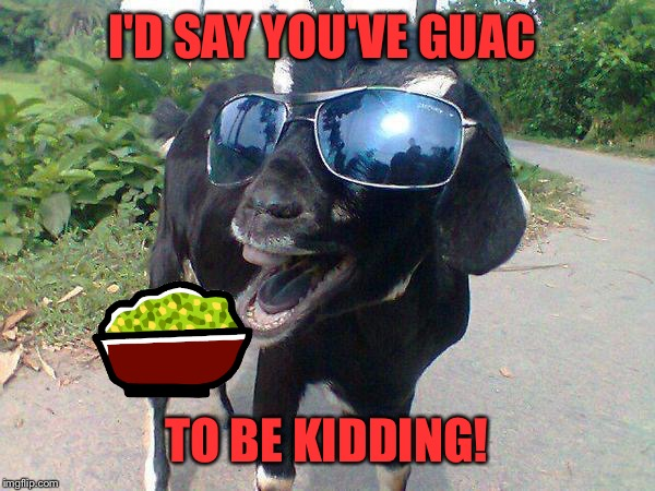 I'D SAY YOU'VE GUAC TO BE KIDDING! | made w/ Imgflip meme maker