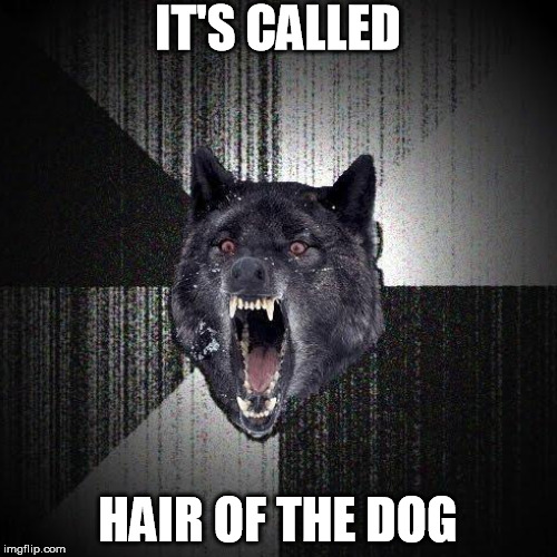 IT'S CALLED HAIR OF THE DOG | made w/ Imgflip meme maker