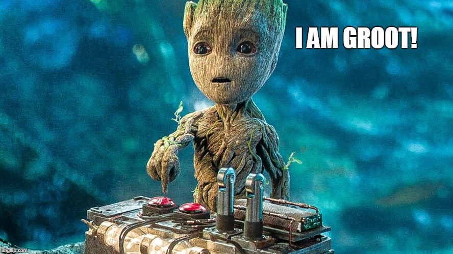 Groot button | I AM GROOT! | image tagged in groot button | made w/ Imgflip meme maker