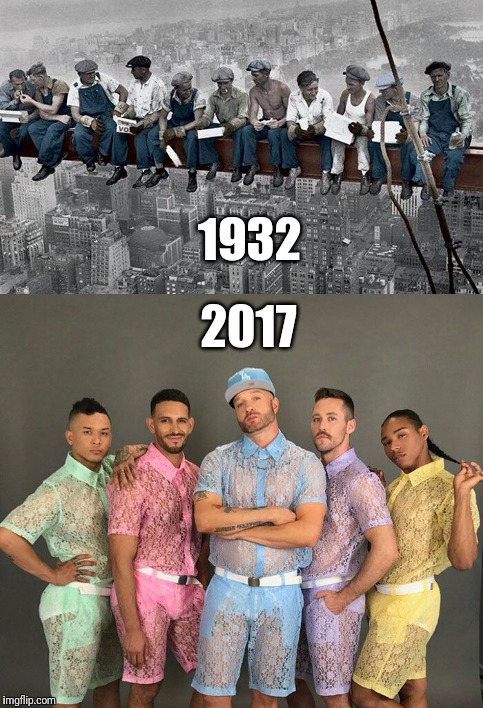 Men | 1932 2017 | image tagged in men | made w/ Imgflip meme maker