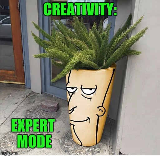 Plant a seed of creativity | CREATIVITY: EXPERT MODE | image tagged in expert mode,sideshow bob,pipe_picasso,simpson's | made w/ Imgflip meme maker