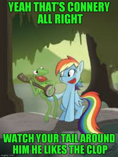 YEAH THAT'S CONNERY ALL RIGHT WATCH YOUR TAIL AROUND HIM HE LIKES THE CLOP | made w/ Imgflip meme maker