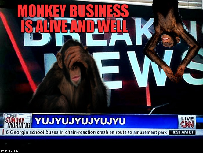 MONKEY BUSINESS IS ALIVE AND WELL | made w/ Imgflip meme maker