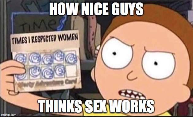 There are all kinds of people #1 | HOW NICE GUYS THINKS SEX WORKS | image tagged in memes,funny memes,funny,funny picture,rick and morty | made w/ Imgflip meme maker