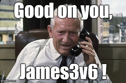 Tracy | Good on you, James3v6 ! | image tagged in tracy | made w/ Imgflip meme maker