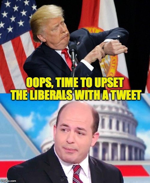 Don and Brian | OOPS, TIME TO UPSET THE LIBERALS WITH A TWEET | image tagged in donald trump,trump tweet | made w/ Imgflip meme maker