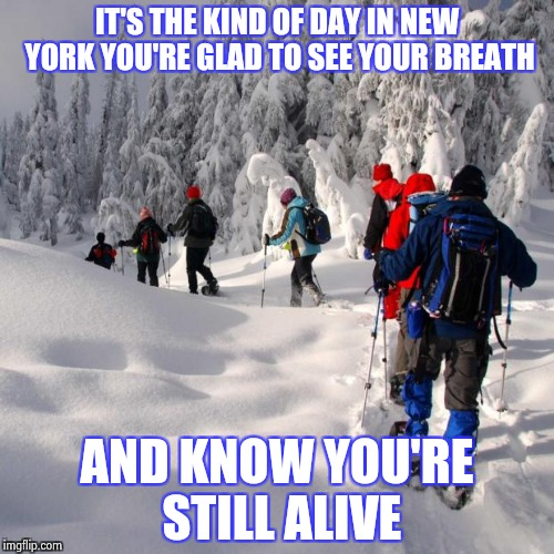 "Not quite numb yet , it was a ""Snow Bomb"" 