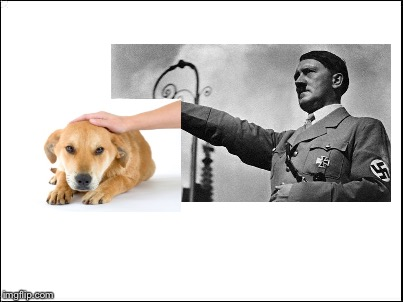 Hitler in his free time 1940 (colorized) | image tagged in nsfw,dog petting meme | made w/ Imgflip meme maker
