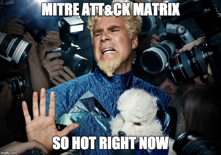 MITRE ATT&CK MATRIX SO HOT RIGHT NOW | image tagged in mugatu | made w/ Imgflip meme maker