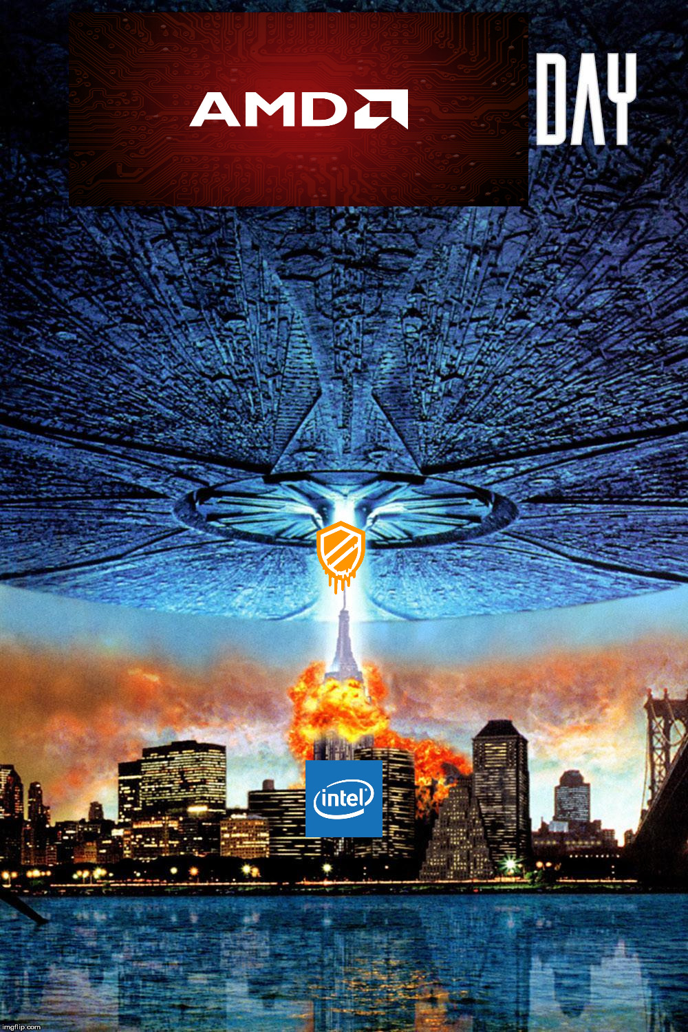 image tagged in intel,amd | made w/ Imgflip meme maker