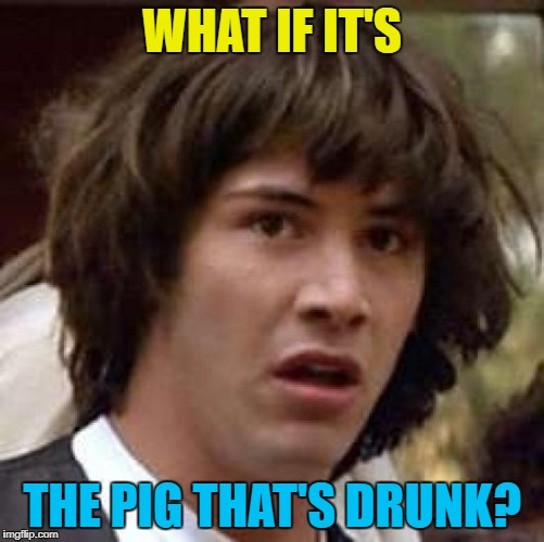 WHAT IF IT'S THE PIG THAT'S DRUNK? | made w/ Imgflip meme maker