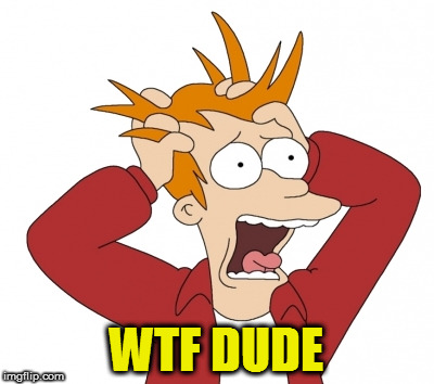 WTF DUDE | made w/ Imgflip meme maker