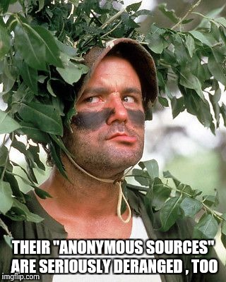 "Bill Murray camouflaged | THEIR ""ANONYMOUS SOURCES"" ARE SERIOUSLY DERANGED , TOO 