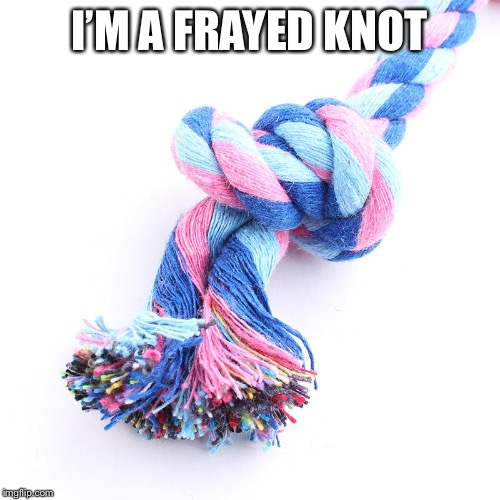 I'M A FRAYED KNOT | made w/ Imgflip meme maker