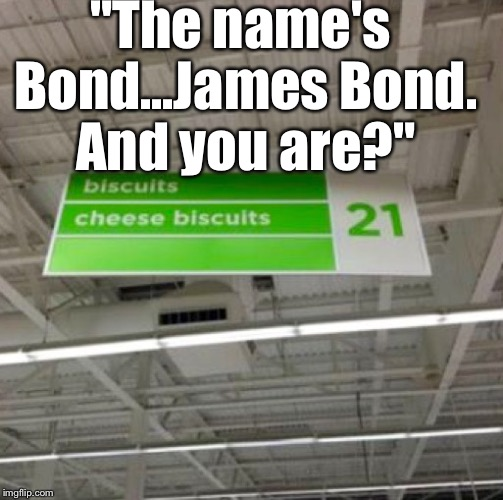 "I Couldn't Resist.... | ""The name's Bond...James Bond. And you are?"" 