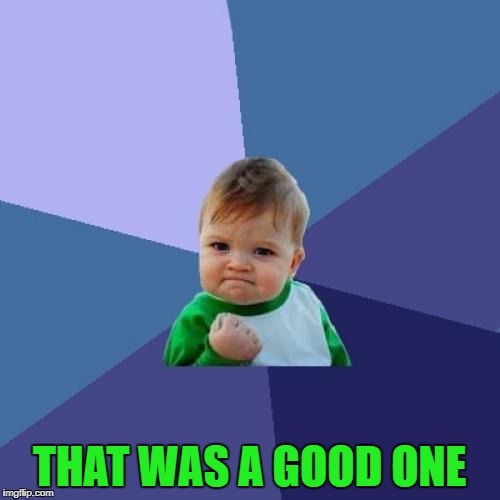 Success Kid Meme | THAT WAS A GOOD ONE | image tagged in memes,success kid | made w/ Imgflip meme maker