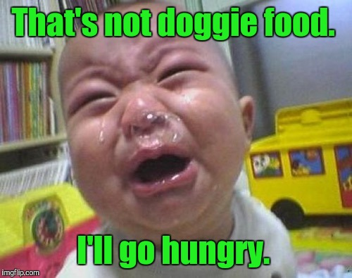 That's not doggie food. I'll go hungry. | made w/ Imgflip meme maker