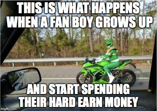 The child inside us | THIS IS WHAT HAPPENS WHEN A FAN BOY GROWS UP AND START SPENDING THEIR HARD EARN MONEY | image tagged in memes,funny memes,funny,power rangers,money | made w/ Imgflip meme maker