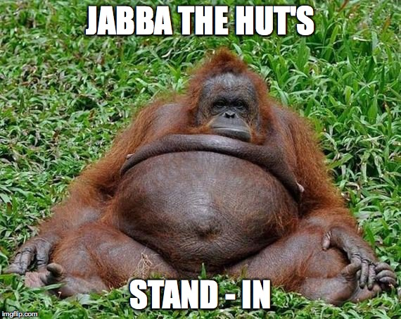 Lazy Orang | JABBA THE HUT'S STAND - IN | image tagged in stand-in for jabba | made w/ Imgflip meme maker