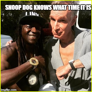 Nye Time | SNOOP DOG KNOWS WHAT TIME IT IS | image tagged in nye time | made w/ Imgflip meme maker