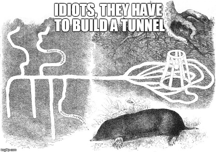 IDIOTS, THEY HAVE TO BUILD A TUNNEL | made w/ Imgflip meme maker