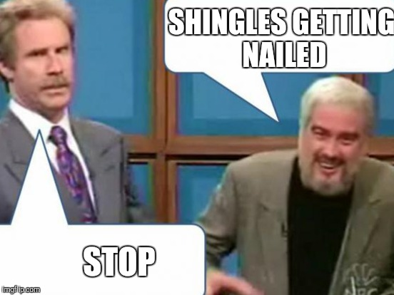 SHINGLES GETTING NAILED STOP | made w/ Imgflip meme maker