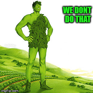 green weed giant | WE DONT DO THAT | image tagged in green weed giant | made w/ Imgflip meme maker