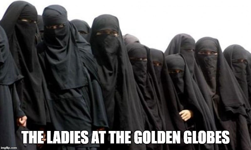 Women at the Golden Globes | THE LADIES AT THE GOLDEN GLOBES | image tagged in golden globes,black | made w/ Imgflip meme maker