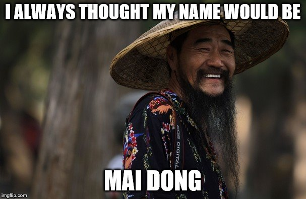 I ALWAYS THOUGHT MY NAME WOULD BE MAI DONG | made w/ Imgflip meme maker