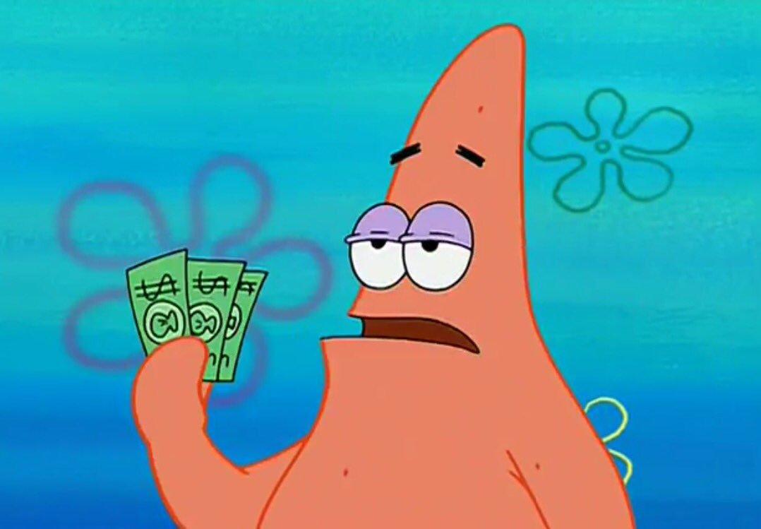 patrick 3 dollars blank template imgflip