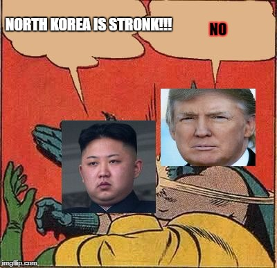 North Korea Will Never Be Strong | NORTH KOREA IS STRONK!!! NO | image tagged in north korea vs america | made w/ Imgflip meme maker