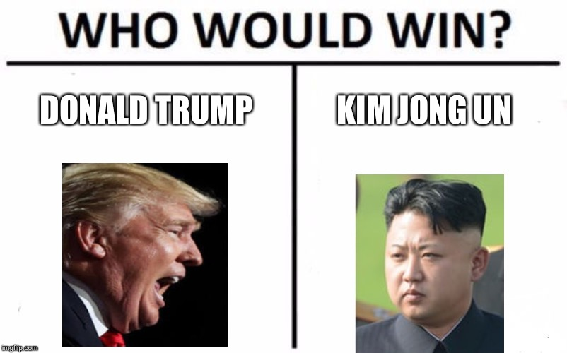Who Would Win? Meme | DONALD TRUMP KIM JONG UN | image tagged in memes,who would win | made w/ Imgflip meme maker
