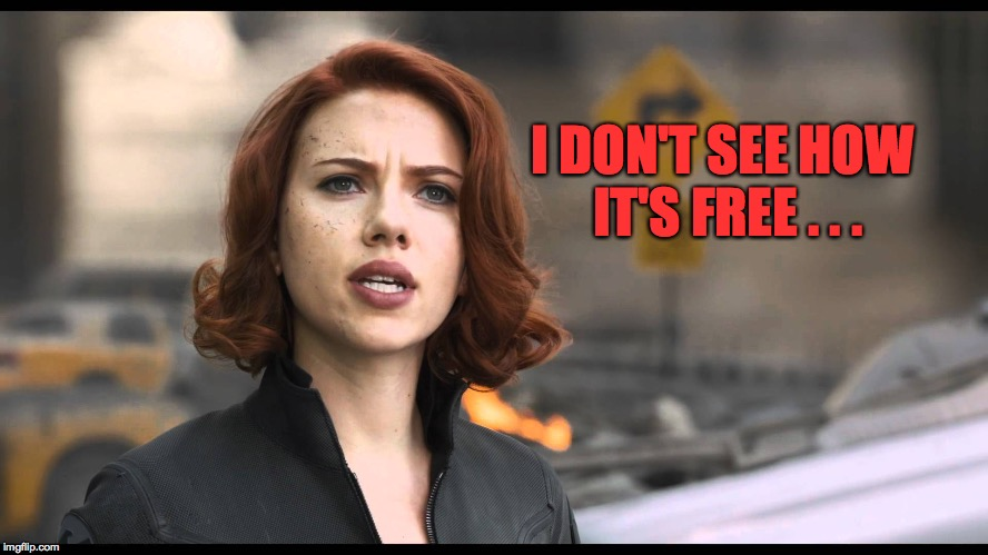 I DON'T SEE HOW IT'S FREE . . . | made w/ Imgflip meme maker