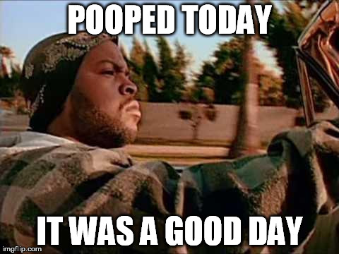 POOPED TODAY IT WAS A GOOD DAY | made w/ Imgflip meme maker