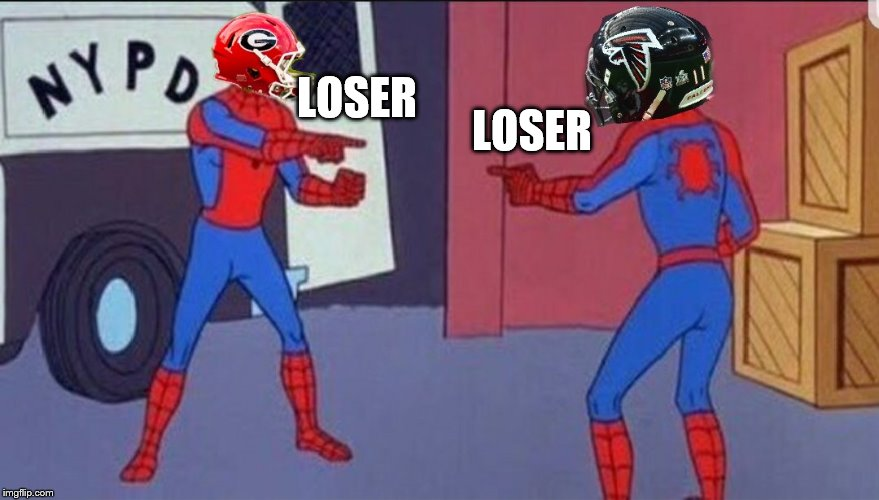 Well if it ain't the pot calling the kettle a loser | LOSER LOSER | image tagged in college football,football,nfl football | made w/ Imgflip meme maker