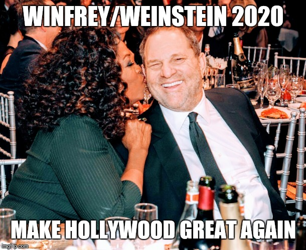 Winfrey/Weinstein 2020 | WINFREY/WEINSTEIN 2020 MAKE HOLLYWOOD GREAT AGAIN | image tagged in oprah | made w/ Imgflip meme maker