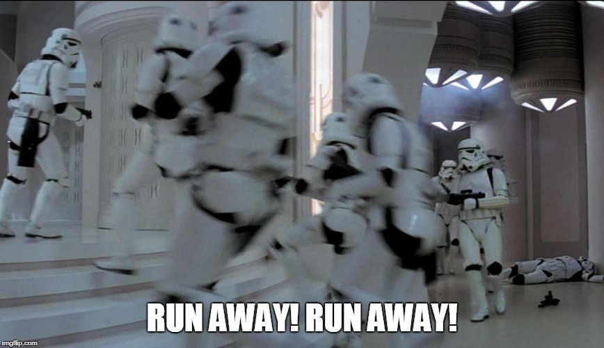 RUN AWAY! RUN AWAY! | made w/ Imgflip meme maker